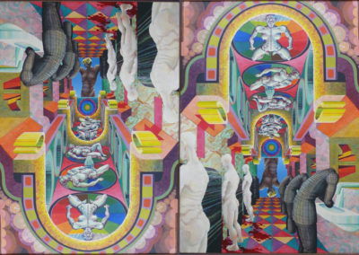Vierte Welt, am Ende der Malerei 1970 Acryl Lwd 85x120cm