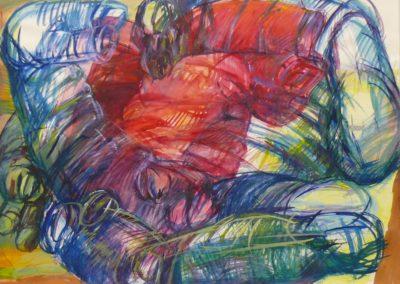 Ballade vom Göreme 1968 Aquarell Papier 66x48cm