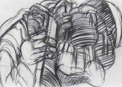 Göreme 1968 Holzkohle Papier 63x45cm