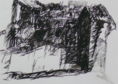 Ager 1967 Tusche Papier 61x43cm