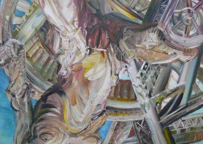 Federlos 1968 Acryl Lwd 100x120cm