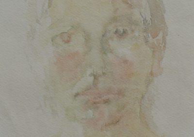 Santorin 1964 Aquarell Papier 20x25cm