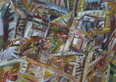 Ager 1968 Acryl Leinwand 100x75cm
