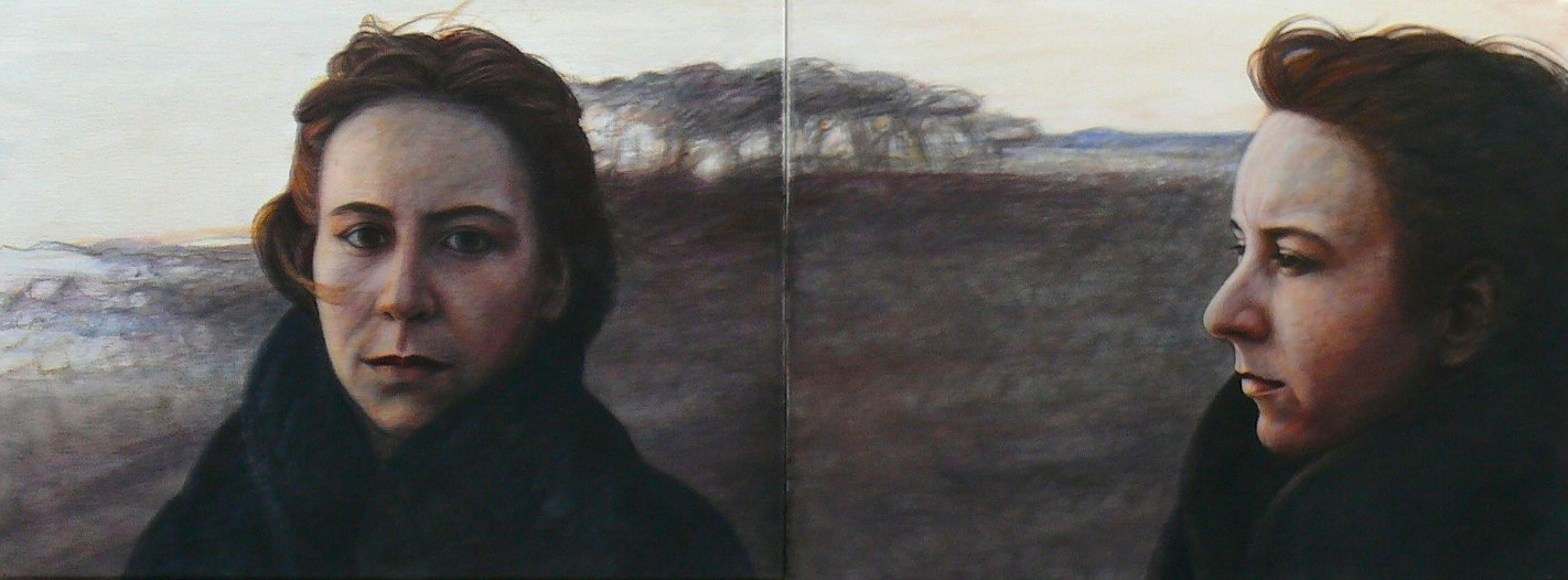 Ruth   2020   Diptychon Acryl/Leinwand   96x36 cm