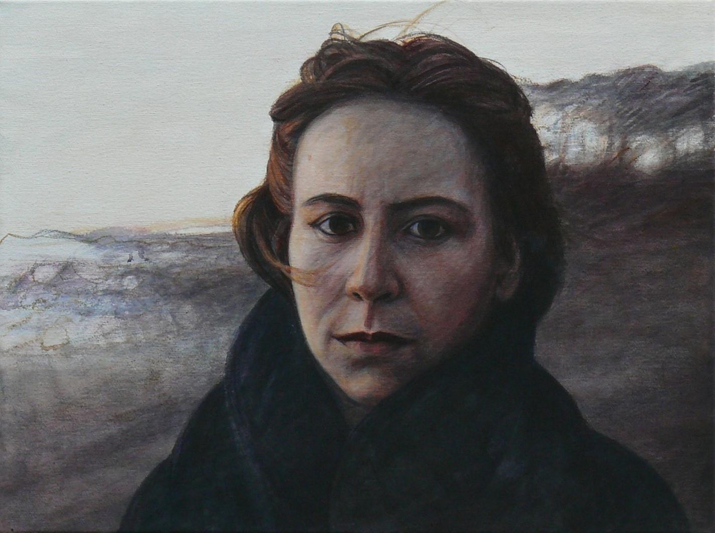 Ruth  2020 (links)   Diptychon Acryl/Leinwand   48x36 cm
