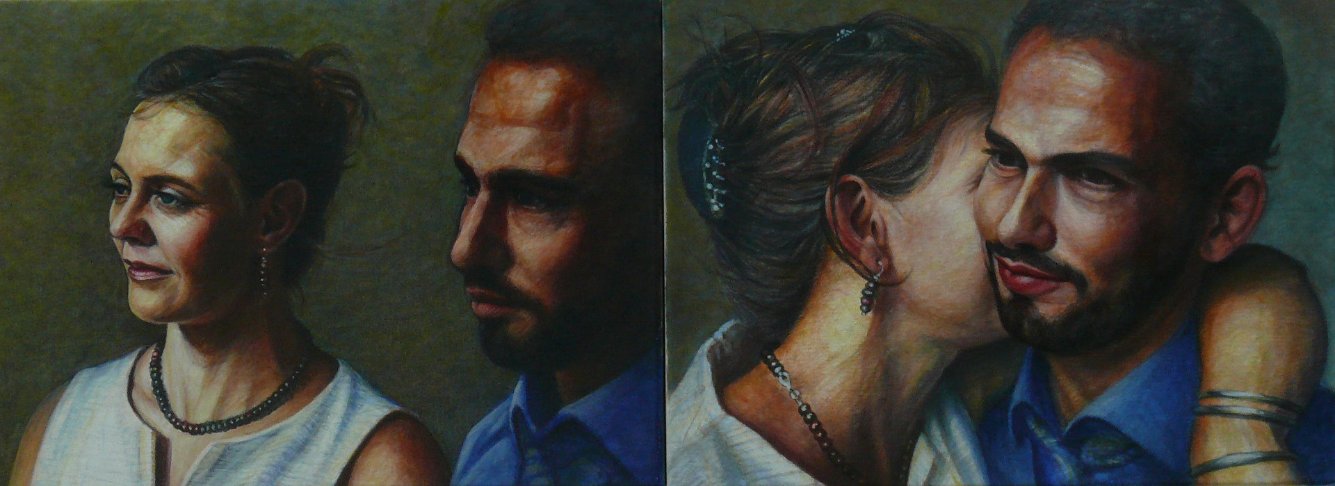 Philipp und Julia 2020 Acryl Leinwand 96x36 cm