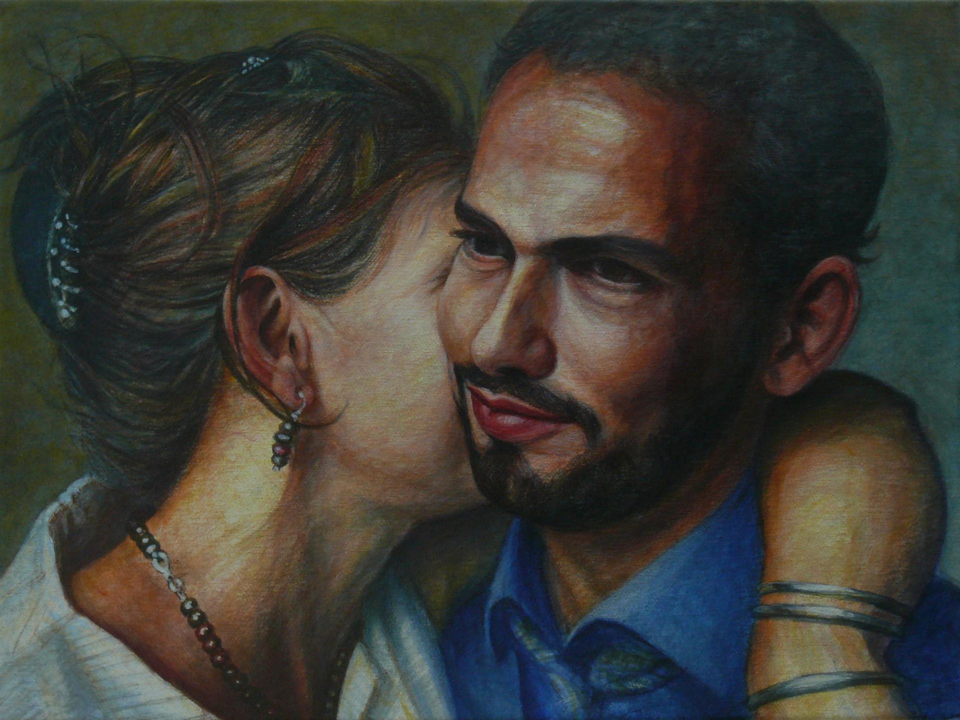 Philipp und julia (rechts) 2020 Acryl Leinwand 48x36 cm